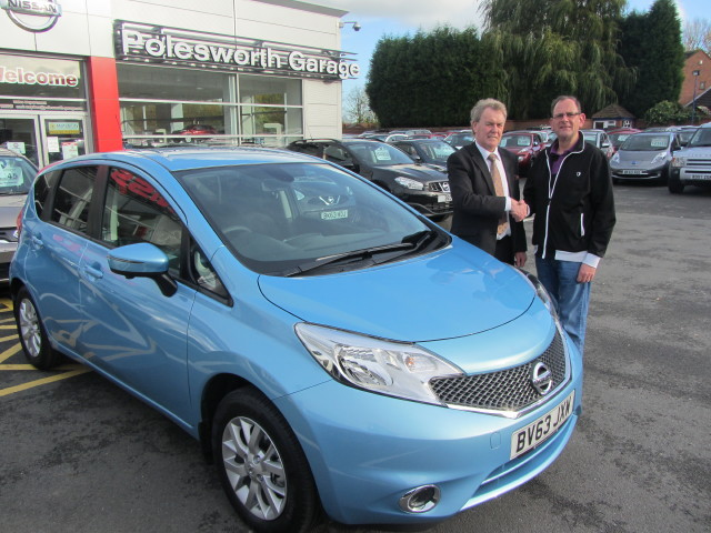 Polesworth Garage Happy Customers Collecting Their New