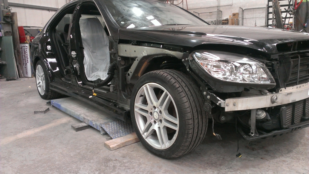 Mercedes Repair - Stripped