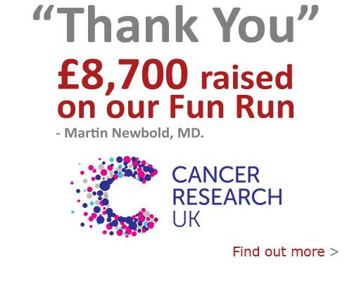 Thank you for helping us raise over £8,700 towards Cancer Research UK.