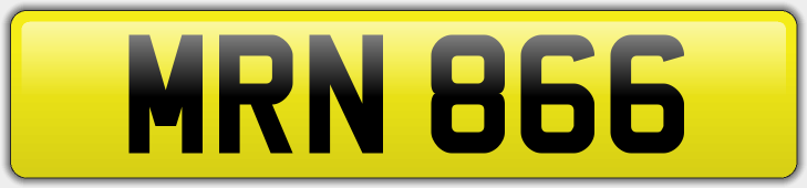 Personalised Registration MRN 866 - £2500