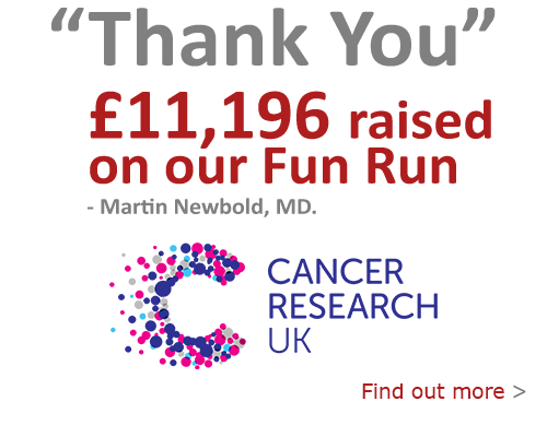 Thank you for helping us raise over £11,000 towards Cancer Research UK.