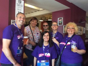 2016 Office Abbott Run - Drew and gang at the pub