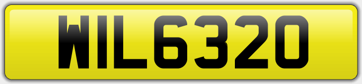 Personalised Registration WIL 6320 - £1500