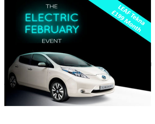 The Nissan LEAF Tekna, available from £199 per month.