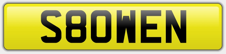 Personalised Registration S80WEN - £12000