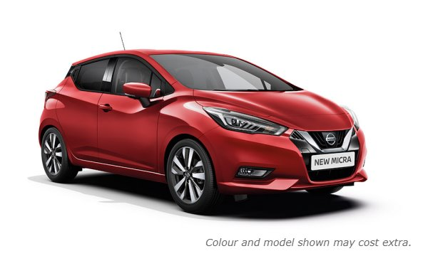 New 2017 Micra in Passion Red