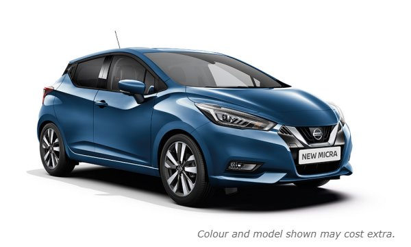 New 2017 Micra in Power Blue