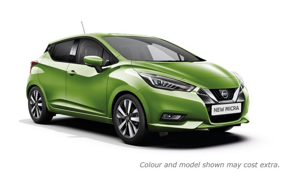 New 2017 Micra in Pulse Green